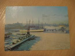 GOTEBORG Hamnen Med Barken Viking Och Masthuggskyrkan I Bakgrunden Ship Harbour Post Card SWEDEN - Sweden