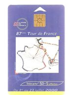 Télécartes Tour De France 2000 Du 1er Juillet Au 23 Juillet - Sport