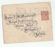 1933 GB COVER Lovely CALLIGRAPHY WRITING Address To DONCASTER ROYAL INFIRMARY Warwick Health Medicine Telecom Stamp - 1902-1951 (Kings)