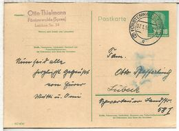 ALEMANIA DDR ENTERO POSTAL MAT FÜRSTENWALDE 1955 - Postales - Usados