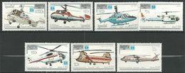 Kampuchea 758/764 ** MNH. 1987. Herlicopteros - Kampuchea
