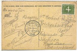 HOLANDA TP MAT 1948 ESPERANTO CONGRESS - Esperanto
