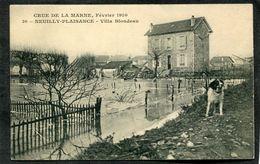 CPA - CRUE DE LA MARNE, Février 1910 - NEUILLY PLAISANCE - Villa Blondeau - Neuilly Plaisance