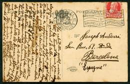 Barcelona. *Victor More I Verdaguer* Pintor. Postal Con Texto Autógrafo. Fechada 1910. - Autógrafos