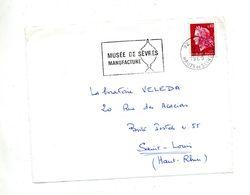 Devant De Lettre Flamme Sevres Musee - Mechanical Postmarks (Advertisement)