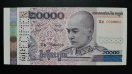 CAMBODGE / CAMBODIA/ 20.000 Riels 2008 Specimen UNC - Cambodia