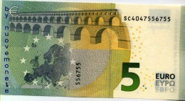 5 EURO DRAGHI SC ITALIA ITALY S006.. FDS UNC - 5 Euro