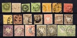 Bavière Belle Collection D'anciens Oblitérés 1849/1904. Bonnes Valeurs.  A Saisir! - Bavière