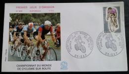 FDC 1972 - YT N°1724 - CHAMPIONNATS DU MONDE CYCLISTES - GAP - FDC