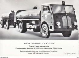 POULY TRANSPORT S.A  VEVEY - CAMION CITERNE SAURER - N/C - VD Vaud