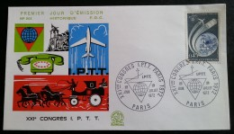 FDC 1972 - YT N°1721 - CONGRES IPTT - PARIS - FDC