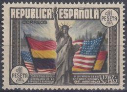 ESPAÑA 1938 Nº EDI. 763 - YVE. 622 NUEVO CON CHARNELA - 1931-50 Nuevos & Fijasellos