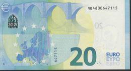 € 20  AUSTRIA  NB N008 H4  DRAGHI  UNC - EURO