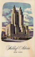 CPA U.S.A. New York City , NYC, Vue De Hôtel Waldorf Astoria - A Hilton Hotel - Manhattan
