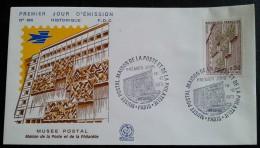 FDC 1973 - YT N°1782 - MUSEE POSTAL / MAISON DE LA POSTE ET DE LA PHILATELIE - PARIS - 1970-1979