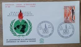 FDC 1973 - YT N°1781 - DECLARATION UNIVERSELLE DES DROITS DE L'HOMME - PARIS - 1970-1979