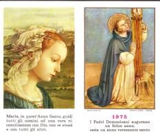 Calendarietto Pieghevole  Anno 1975 Soggetti Religiosi - Calendari