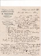 Correspondance Brasseries De L'Est B.Wagner Gde Brasserie De Sept-Fons Belley (Ain) 1900 - France
