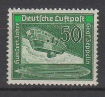 """Germany Reich 1938 Deutsches Reich MiNr 670 100. Geburtstag Von Ferdinand Graf Von Zeppelin. """"Hindenburg"""" LZ 129 MNH - Zeppelin"""
