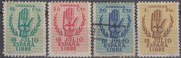 ESPAÑA 1938 Nº 851/54 - 636/39 NUEVO SIN GOMA EL 853 - 638 USADO Y MANCHAS DE OXIDO NO CONTADO - 1931-Oggi: 2. Rep. - ... Juan Carlos I