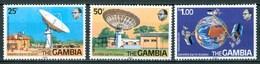 1979 Gambia Satellite Earth Station Telecomunicazioni Telecommunications Set MNH** Ye83 - Gambia (1965-...)