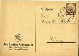 43825 - Germany / Third Reich - 1940 - 3Pfg. Hindenburg On Pt'd Matter Card From LICHTENFELS - Deutschland