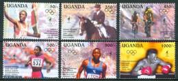 """1995 Uganda """"Atlanta 96"""" Olimpiadi Olympic Games Jeux Olympiques MNH** Ye80 - Uganda (1962-...)"""