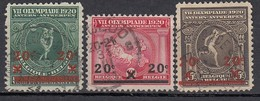 BELGIEN 1921 - MiNr: 162-164 Komplett   Used - Belgien