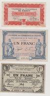 3 BILLETS CHAMBRES DE COMMERCE 50c NANCY 1 Fr DIJON Et 1fr SYNDICAT FINANCIER DES VOGES - Chambre De Commerce