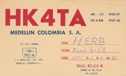 CARTOLINA - POSTCARD - COLOMBIA - RADIO AMATORI MEDELLIN - Colombia