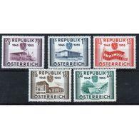 Austria 1955 Set To Celebrate The 10th Anniversary Of Re-establishment Of Austrian Republic. - 1945-60 Unused Stamps