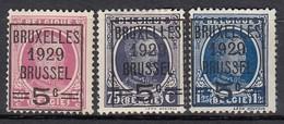 BELGIEN 1929 - MiNr: 251-253   */MH - Belgien
