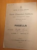 CITTA' DI GALLARATE-PAGELLA-SCUOLE ELEMENTARI PUBBLICHE-ANNO SCOLASTICO 1922-1923 - Diplomi E Pagelle