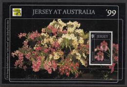 Jersey 1999 MNH Scott #896 Souvenir Sheet 1pd50p Miltonia Portelet Orchid Australia '99 - Jersey