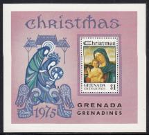 Grenada Grenadines 1975 MNH Scott #136 Souvenir Sheet $1 Madonna And Child By Bellini Christmas - Grenade (1974-...)