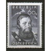 Austria 40th Death Anniversary Of Andreas Hofer. - 1945-60 Unused Stamps