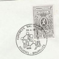 1968 Belgium ATONIUM EVENT COVER European Salon IRON CRYSTAL STRUCTURE , EIFFEL TOWER, Minerals Stamps - Minerals