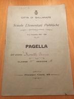 GALLARATE-PAGELLA-ANNO SCOLASTICO 1922-1923 - Diplomi E Pagelle