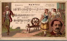CHROMO MARTHA MUSIQUE DE F. DE FLOTOW - Trade Cards