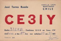 CARTOLINA - POSTCARD - CILE - RADIO AMATORI SANTIAGO - Cile