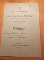 GALLARATE-PAGELLA-ANNO SCOLASTICO 1921-1922 - Diplomi E Pagelle