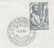 1964 GASTROENTEROLOGY CONGRESS  EVENT COVER Belgium VESALIUS ANATOMY Medicine Health Stamps - Medicine