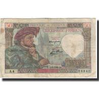 France, 50 Francs, 50 F 1940-1942 ''Jacques Coeur'', 1940-06-13, TB - 1871-1952 Anciens Francs Circulés Au XXème
