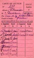 VP11.946 - Blbliothèque De CLERMONT FERRAND - Carte De Lecture De La S.N.C.F - Cartes