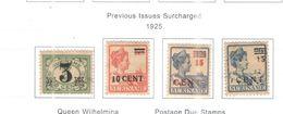 Suriname PO 1925 Prevous Surch. Scott.116/119 +See Scans On Scott.Page - Surinam