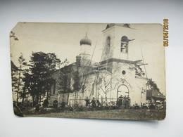 RARE! 1919 LATVIA ESTONIAN TROOPS NEAR ORTHODOX CHURCH  , 0 - Latvia
