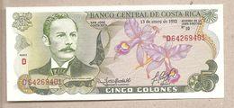 Costa Rica - Banconota Non Circolata FdS Da 5 Colon P-236e.3 - 1992 - Costa Rica