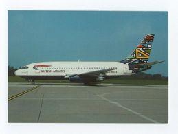 Postcard AIRCRAFT BOEING 737 BRITISH AIRWAYS AIRCRAFT AIRPLANES - 1946-....: Moderne