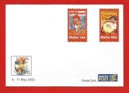 Malta  2003  Mi.Nr. 1274 / 75 , EUROPA CEPT Plakatkunst - Ganzsache - Sonderpostkarte - Malta Post - Postfrisch - Europa-CEPT
