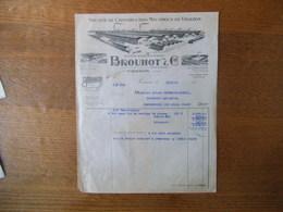 VIERZON BROUHOT & Cie SOCIETE DE CONSTRUCTION MECANIQUE LA BATTEUSE INIMITABLE FACTURE DU 10/2/1948 - France